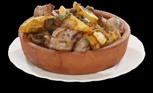 Оджахури (свинина жареная с картошкой на кеци)